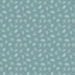 Petals and flowers boho summer garden poppy love neutral nursery cool teal blue white mini