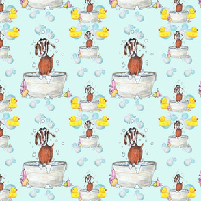 Goat Soap Bubbles Pattern 1 mint