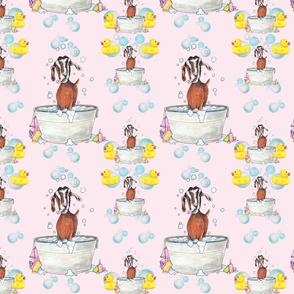 Goat Soap Bubbles Pattern 1 pink