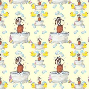 Goat Soap Bubbles Pattern 1 yellow