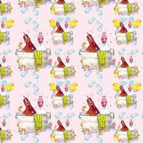 Bathing Broodies Pattern 1 pink