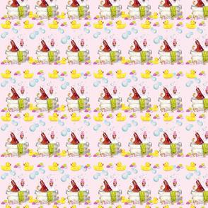 Bathing Broodies Pattern 2 pink