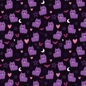 Pastel Goth Llama Purple - S