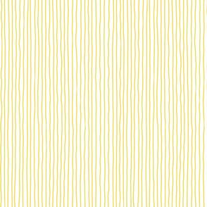 illuminating yellow crooked lines on white