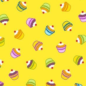 Yellow Cupcake Frenzy