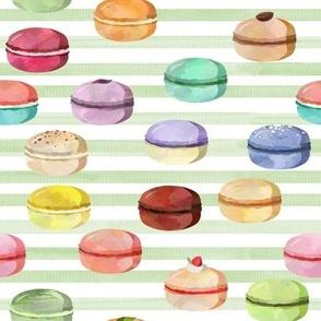 Macaron Green Stripes