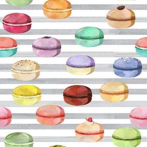 Macaron Gray Stripes