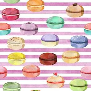 Macaron Fuchsia Stripes