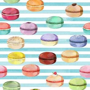 Macaron Blue Stripes