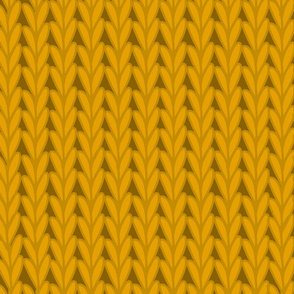 Knitted Stitches in Gold Yellow