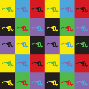 Maryland Pop Art Pattern