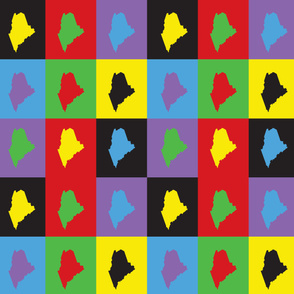 Maine Pop Art Pattern