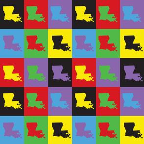 Louisiana Pop Art Pattern