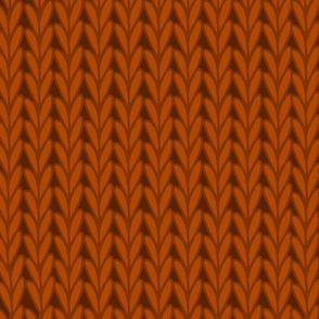 Knitted Stitches in Copper