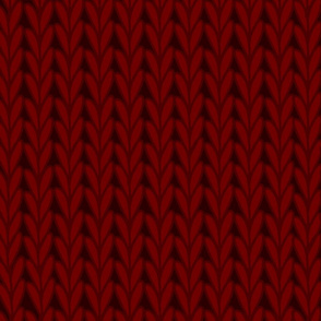 Knitted Stitches in Burgundy