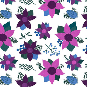 Winter Purple Poinsettias