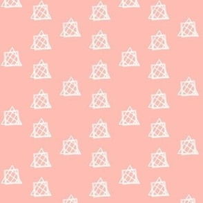 Ditsy Triangles on Salmon Pink