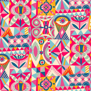 geometric playground // pink // medium scale