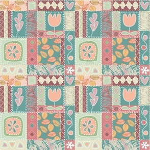 Patchwork with Appliques