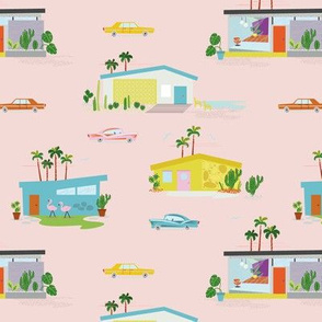 Palm Springs Style- pink flamingo