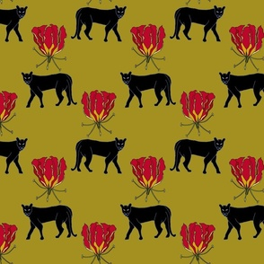 Panther and Fire Lily