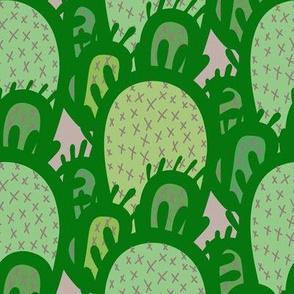 Big Cactus - multi greens large