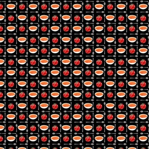 tomato soup tile inverted - black