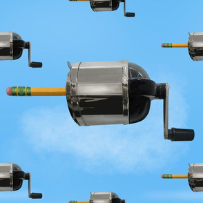 SF_ SHARPENER AND PENCILS CLOUDS FLOATING PATTERN