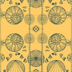 GeometricSmall-teal & Gold