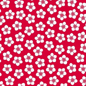 Red Floral Texture