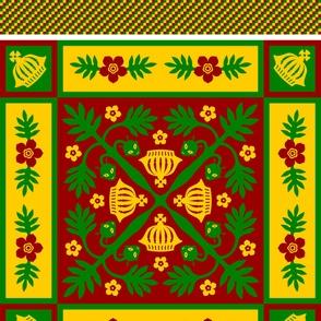 Aliens in the Breadfruit Tree quilt