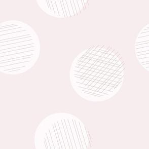 sketchy dots mauve- jumbo