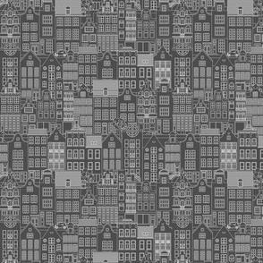 "Amsterdam houses, gray, S, 5.26"""