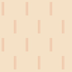 Double Skinny Lines in Beige