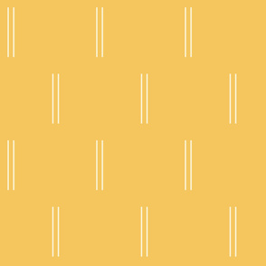 Double Skinny Lines in Yellow