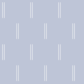 Double Skinny Lines in Light Misty Blue