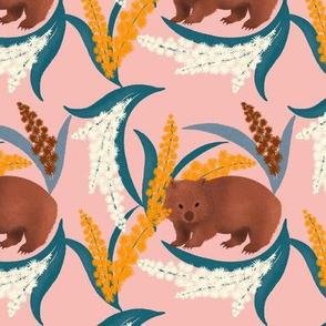 Wombat and Mimosa (Waddle and Wattle)