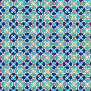 Orange & Turquoise Circle Tiles