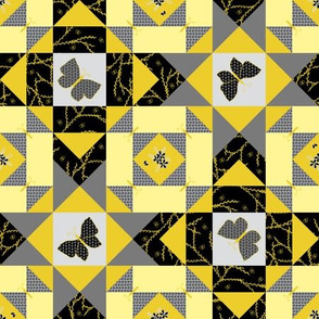 Butterfly Storm in Sunshine and Shadows Quilt (#4) - Medium Scale