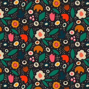 Abstract floral Lora