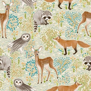 Spring woodland - beige