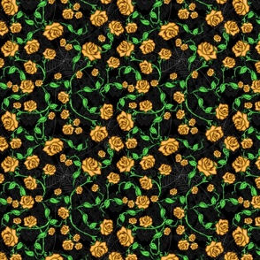 Webs n Yellow Rose