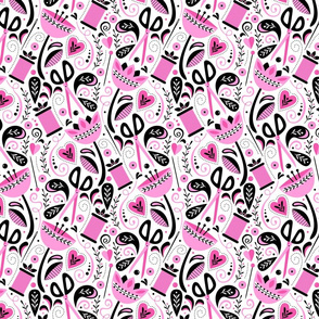 Sew Floral (Pink)