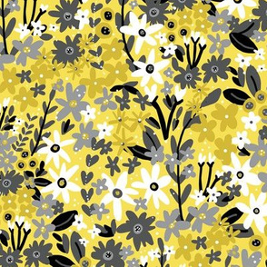Garden Gems (Yellow and Gray)