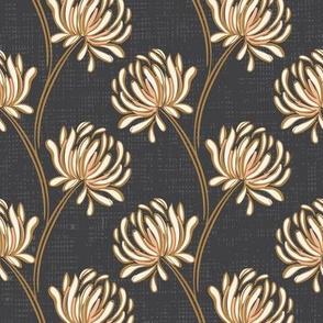 Pom Pom flower Gray