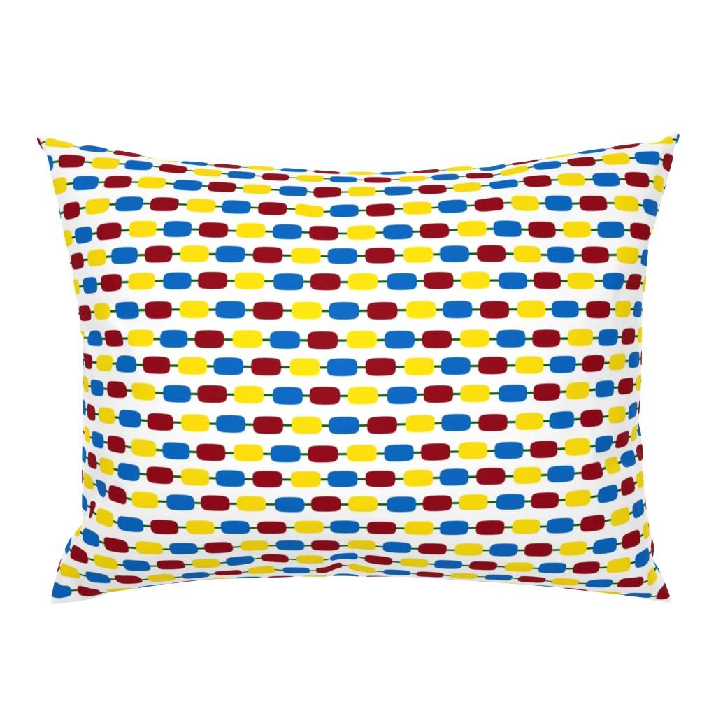 Campine Pillow Sham featuring KindergartenBeads by jozanehouse