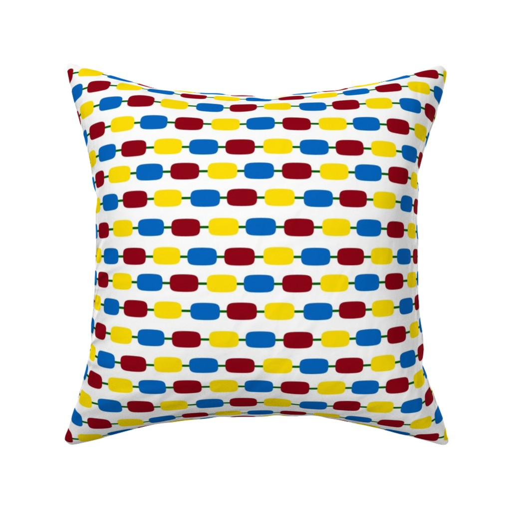 Catalan Throw Pillow featuring KindergartenBeads by jozanehouse