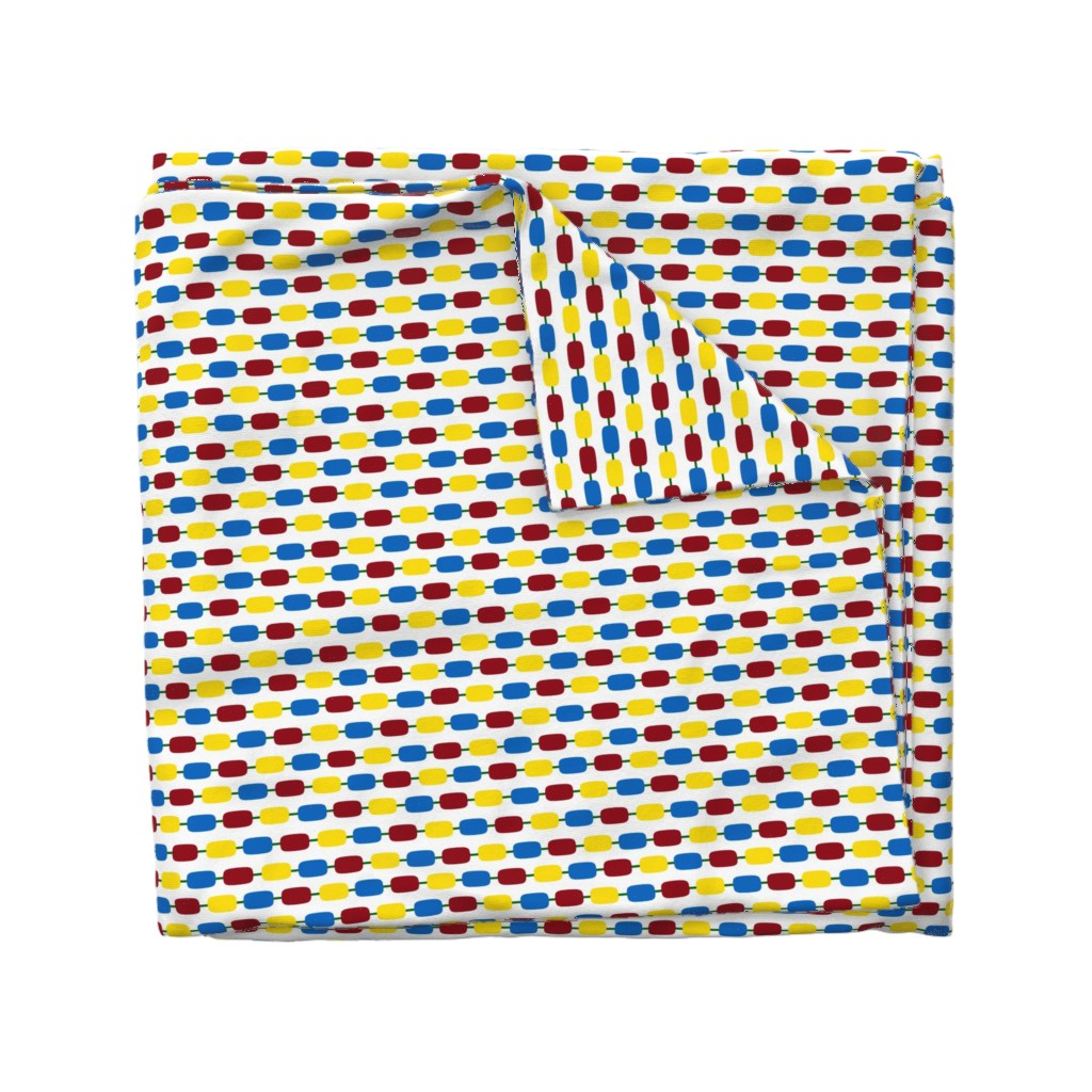 Wyandotte Duvet Cover featuring KindergartenBeads by jozanehouse