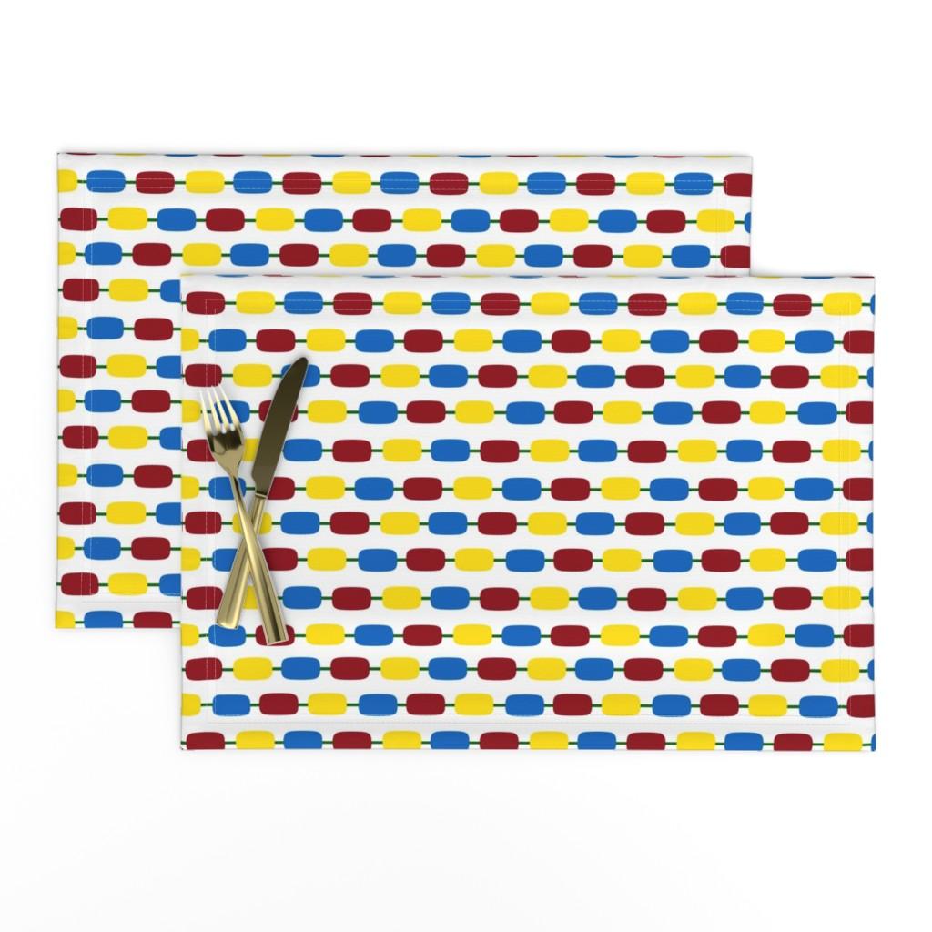 Lamona Cloth Placemats featuring KindergartenBeads by jozanehouse