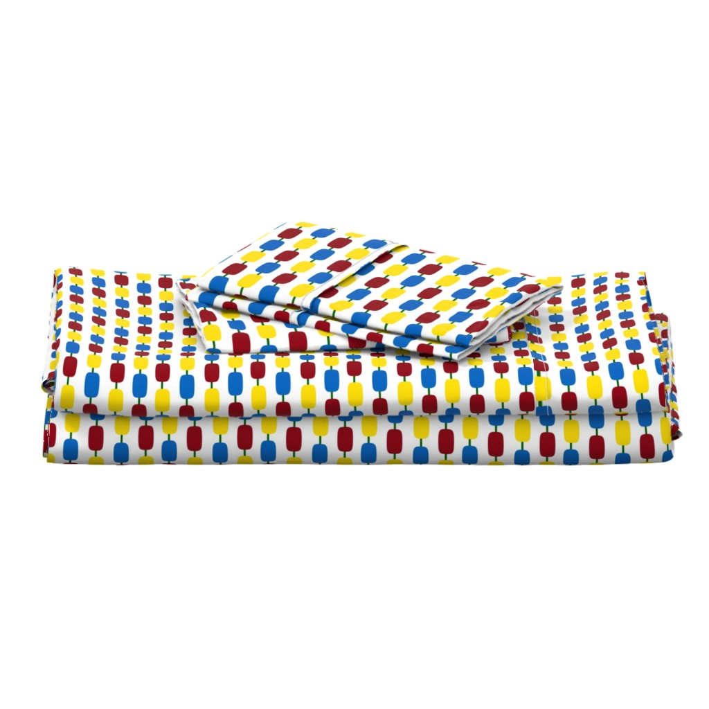 Langshan Full Bed Set featuring KindergartenBeads by jozanehouse